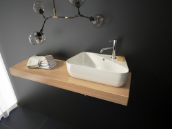 DORA keramické umyvadlo 45x27x13 cm, varianta levá (DORA -13) - Aquatek