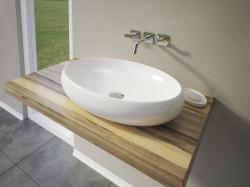 Aquatek - BIBI oválné keramické umyvadlo 57x13x39cm (BIBI)