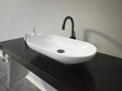 Aquatek - KARMA oválné keramické umyvadlo 64x13,7x35cm (KARMA)