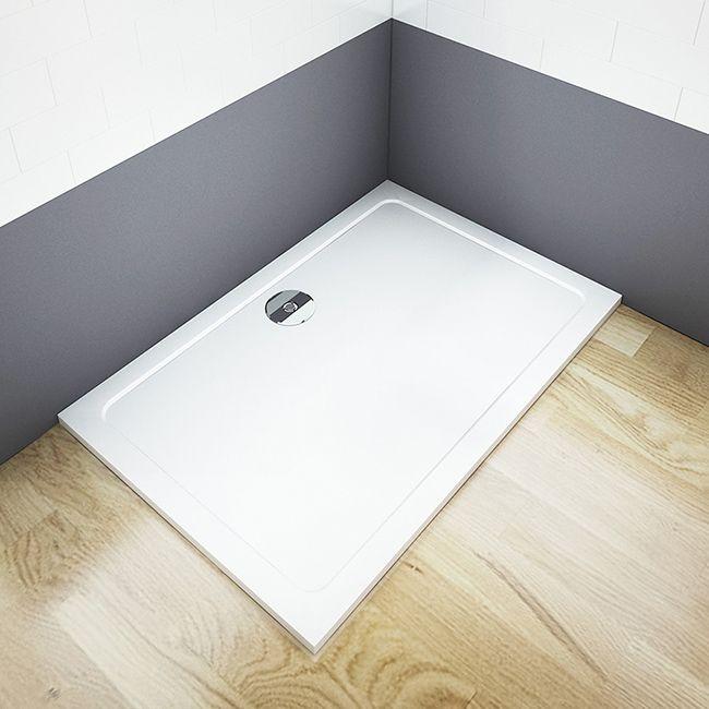 H K - THOR Sprchová vanička z litého mramoru, obdélník, 90x70x3 cm (SE-THOR-9070)