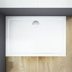 THOR Sprchová vanička z litého mramoru,  obdélník, 90x80x3 cm (SE- ROCKY-9080) - H K