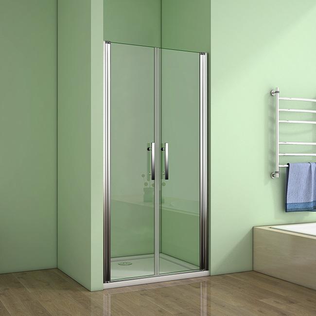 Sprchové dveře MELODY D2 120 dvoukřídlé 116 x 120 cm, čiré sklo SE- MELODYD2120