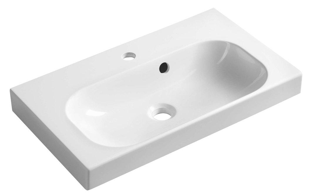 JOY umyvadlo 60x37cm, litý mramor, bílé (FDT-637)