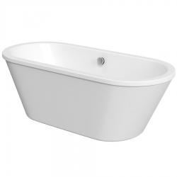 AQUALINE - LABE volně stojící vana, 180x80x57 cm, bílá (LA180)