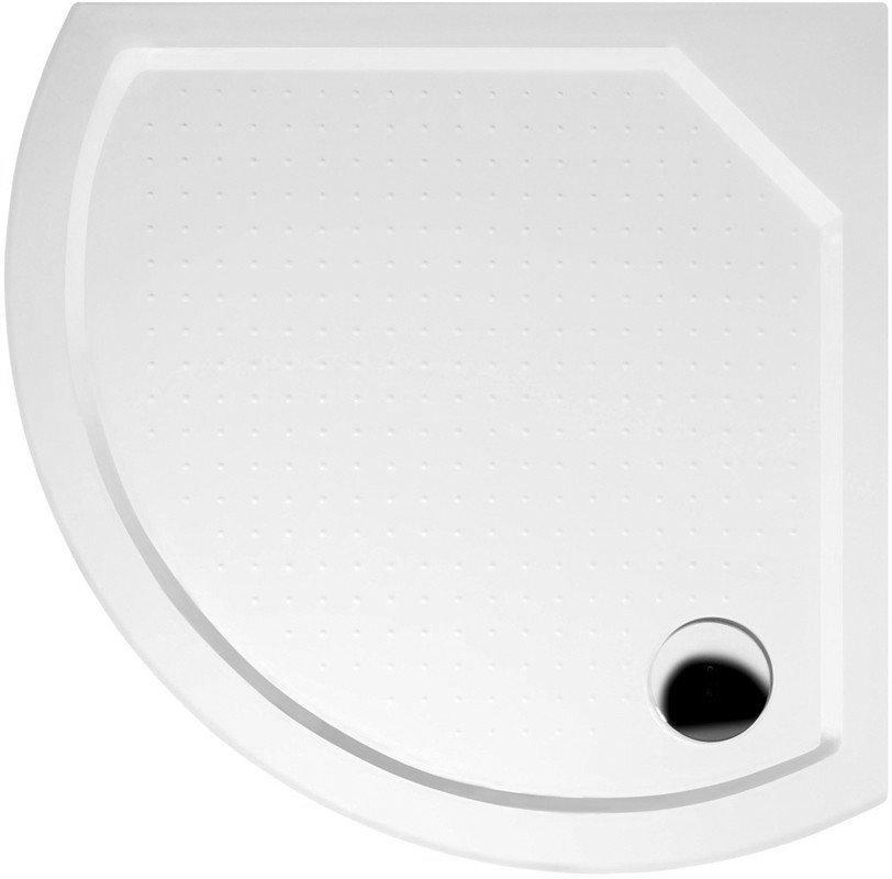 DITA80 sprchová vanička z litého mramoru, čtvrtkruh 80x80x4cm, R590 (GD608)