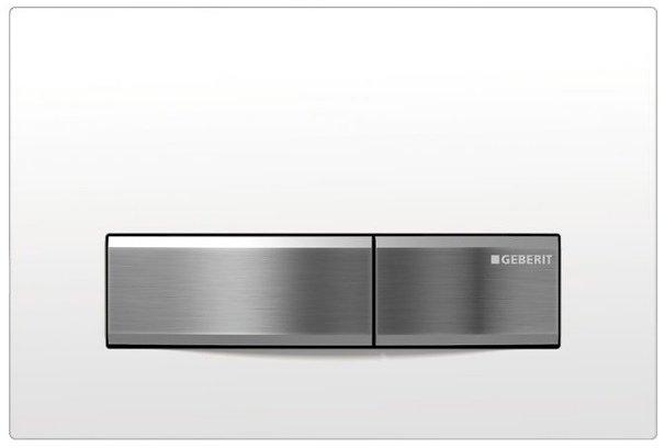 GEBERIT SIGMA50 ovládací tlačítko, pro 2 množství splachování, bílá 115.788.11.5