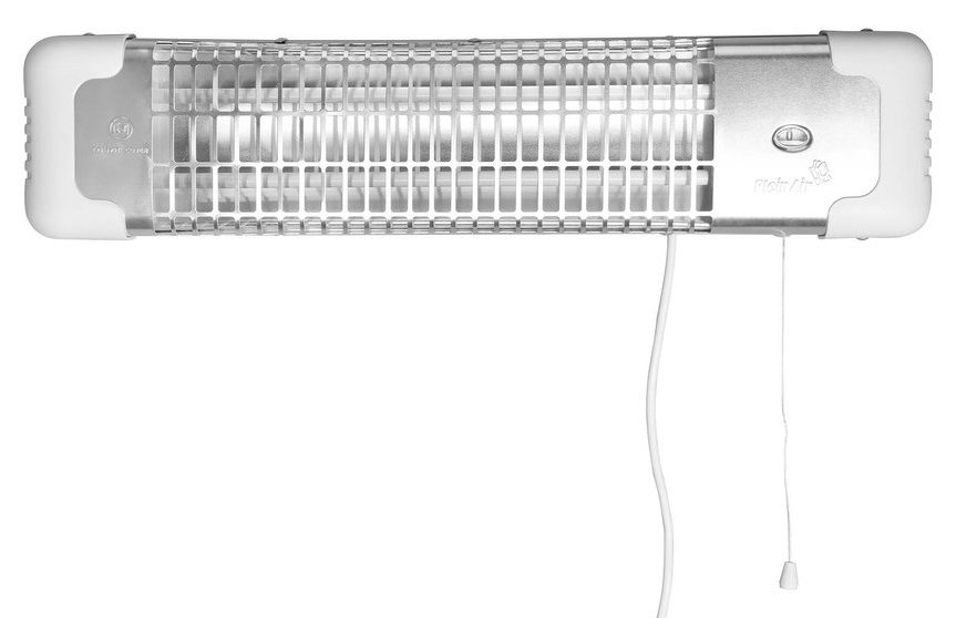 AQUALINE REGLETTE koupelnový infrazářič 600-1200 W, 600x135 mm, bílá R-1200