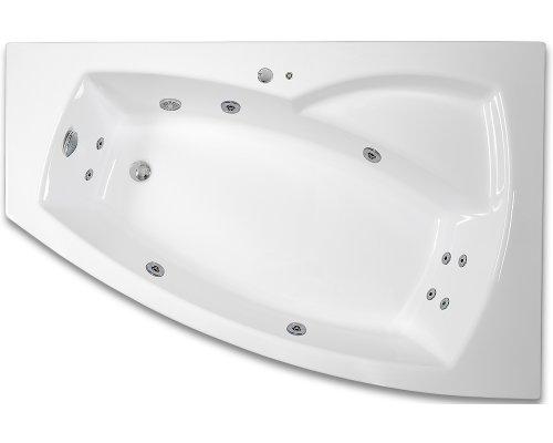 ARTTEC THALEILA SURF 160 x 105 hydromasážní akrylátová vana LEVÁ PAN04404