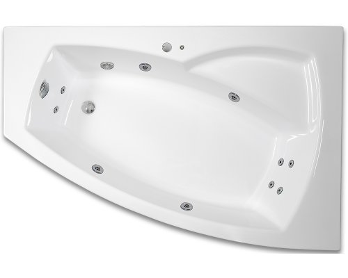 ARTTEC THALEILA SURF 160 x 105 hydromasážní akrylátová vana PRAVÁ PAN04386