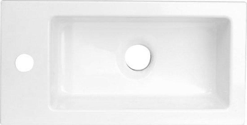 LATUS umyvadlo 45x2x23cm, litý mramor, bílé (55510)
