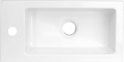 SAPHO - LATUS umyvadlo 45x2x23cm, litý mramor, bílé (55510)