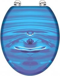 Eisl - Wc sedátko Blue drop MDF se zpomalovacím mechanismem SOFT-CLOSE (80125 blue drop), fotografie 10/5