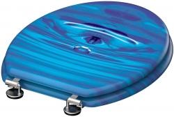 Eisl - Wc sedátko Blue drop MDF se zpomalovacím mechanismem SOFT-CLOSE (80125 blue drop), fotografie 6/5