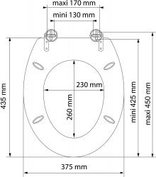 Eisl - Wc sedátko Blue drop MDF se zpomalovacím mechanismem SOFT-CLOSE (80125 blue drop), fotografie 2/5