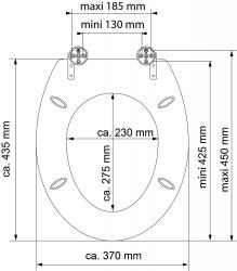 Eisl - Wc sedátko Foggy MDF HG se zpomalovacím mechanismem SOFT-CLOSE (80546Foggy), fotografie 6/5