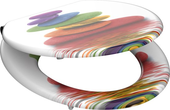 Eisl / Schuette Wc sedátko Colorful Stones MDF se zpomalovacím mechanismem SOFT-CLOSE 80120Colorful Stones