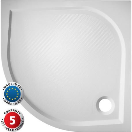 HOPA Čtvrtkruhová sprchová vanička SOFIA 1000 x 1000 x 30 mm R550, včetně panelu (výška 11 cm) VANKSOF10N+VANKSOF10P