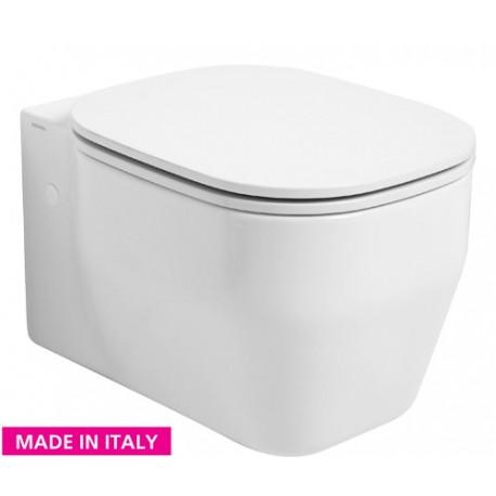 Závěsné wc GLAZE Včetně WC desky SOFT-CLOSE KEAZGLWC+KEAZGLSEDSC