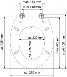 Eisl - Wc sedátko Asia MDF HG se zpomalovacím mechanismem SOFT-CLOSE (80521Asia), fotografie 6/5