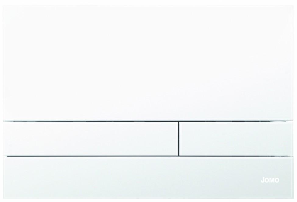 JOMO TLAČÍTKO EXCLUSIVE 2.1 RÁMEČEK CHROM-MAT 2.0/SKLO BÍLÉ MATNÉ 167-39001180-00