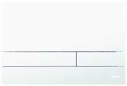 TLAČÍTKO EXCLUSIVE 2.1 RÁMEČEK CHROM-MAT 2.0/SKLO BÍLÉ MATNÉ (167-39001180-00) - JOMO