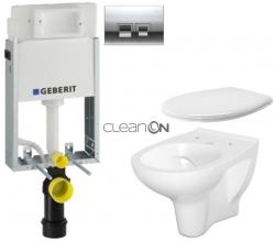 GEBERIT - SET KOMBIFIXBasic včetně ovládacího tlačítka DELTA 50 CR pro závěsné WC CERSANIT ARTECO CLEANON (110.100.00.1 50CR AT2)