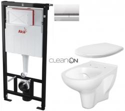 SET Sádromodul - předstěnový instalační systém + tlačítko M1721 + WC CERSANIT ARTECO CLEANON + SEDÁTKO (AM101/1120 M1721 AT2) - AKCE/SET/ALCAPLAST