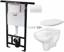 SET Jádromodul - předstěnový instalační systém + tlačítko M1710 + WC CERSANIT ARTECO CLEANON + SEDÁTKO (AM102/1120 M1710 AT2) - AKCE/SET/ALCAPLAST
