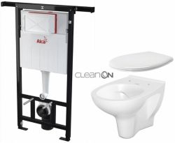 AKCE/SET/ALCAPLAST - SET Jádromodul - předstěnový instalační systém + WC CERSANIT ARTECO CLEANON + SEDÁTKO (AM102/1120 X AT2)