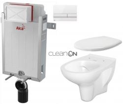 AKCE/SET/ALCAPLAST - SET Renovmodul - předstěnový instalační systém + tlačítko M1710 + WC CERSANIT ARTECO CLEANON + SEDÁTKO (AM115/1000 M1710 AT2)
