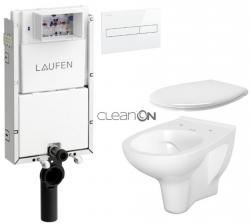 AKCE/SET/LAUFEN - Podomít. systém LIS TW1 SET BÍLÁ + ovládací tlačítko BÍLÉ + WC CERSANIT ARTECO CLEAN ON + SEDÁTKO (H8946630000001BI AT2)