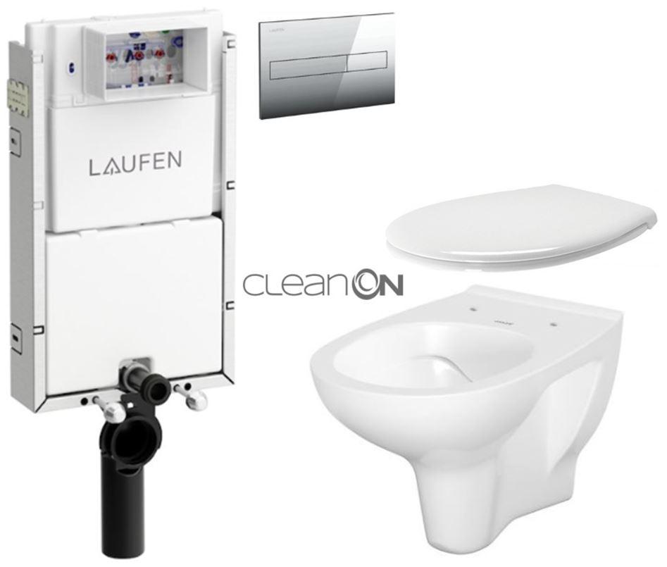 AKCE/SET/LAUFEN Podomít. systém LIS TW1 SET + ovládací tlačítko CHROM + WC CERSANIT ARTECO CLEAN ON + SEDÁTKO H8946630000001CR AT2
