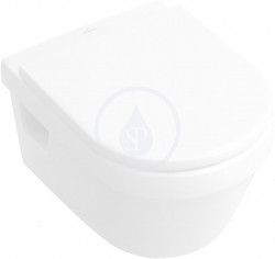 VILLEROY & BOCH - Omnia Architectura Závěsný klozet s WC sedátkem Combi-Pack, 370 mm x 530 mm, bílý - Combi-Pack (5684H101)