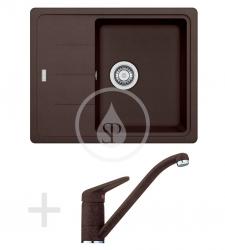Sety Kuchyňský set G66, granitový dřez BFG 611-62, tmavě hnědá + baterie FC 9541, tmavě hnědá (114.0365.149) - FRANKE