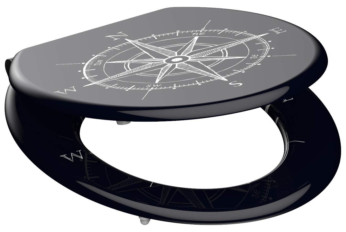 Eisl / Schuette Wc sedátko Compass MDF se zpomalovacím mechanismem SOFT-CLOSE 80132Compass