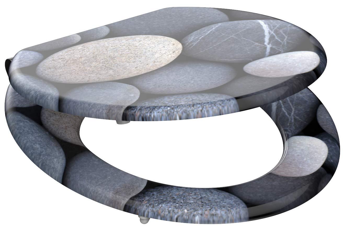 Eisl / Schuette Wc sedátko Grey stones MDF se zpomalovacím mechanismem SOFT-CLOSE 80130Greystones