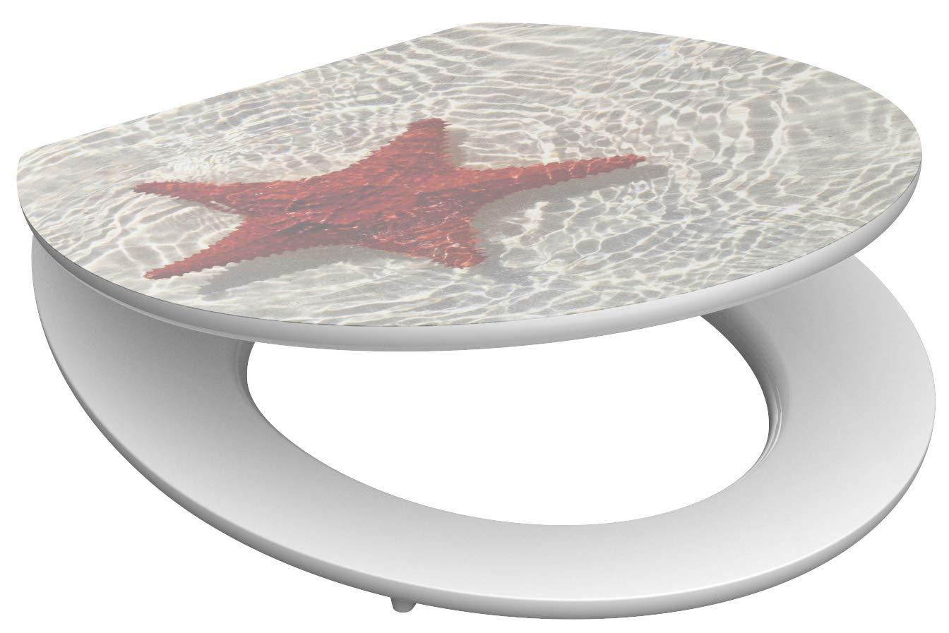 Eisl / Schuette Wc sedátko Red Starfish MDF HG se zpomalovacím mechanismem SOFT-CLOSE 80541RedStarfish