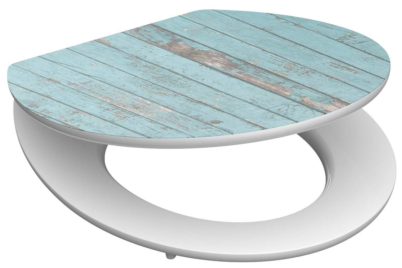 Eisl / Schuette Wc sedátko Blue Wood MDF HG se zpomalovacím mechanismem SOFT-CLOSE 80536BlueWood