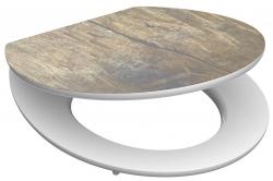 Eisl - Wc sedátko Solid Wood MDF HG se zpomalovacím mechanismem SOFT-CLOSE (80524SolidWood)