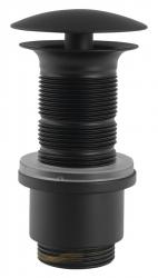 SILFRA - Neuzavíratelná výpust pro umyvadla bez přepadu, V 65-85mm, černá mat (UD31913)