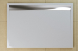 SanSwiss vanička ILA obdélník bílá 120x90x3,5 cm kryt aluchrom WIA901205004 (WIA901205004)