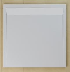 SanSwiss vanička ILA čtverec bílá 80x80x3 cm kryt bílý WIQ0800404 (WIQ0800404)