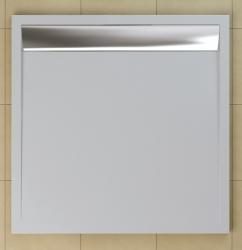 SanSwiss vanička ILA čtverec bílá 80x80x3 cm kryt aluchrom WIQ0805004 (WIQ0805004)
