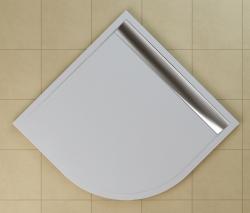 SanSwiss vanička ILA čtvrtkruh bílá 80x80x3 cm kryt aluchrom WIR550805004 (WIR550805004)