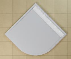 SanSwiss vanička ILA čtvrtkruh bílá 90x90x3 cm kryt bílý WIR550900404 (WIR550900404)