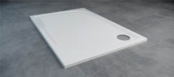 SanSwiss MARBLEMATE sprchová vanička bílá,obdélník 100x80x3 cm,1000/800/30, (WMA8010004)