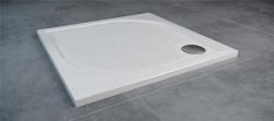 SanSwiss MARBLEMATE sprchová vanička bílá,čtverec 90x90x3 cm,900/30, (WMQ090004)