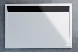 SanSwiss vanička ILA obdélník bílá 90x80x3 cm kryt černý matný WIA800900604 (WIA800900604)