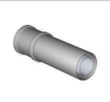 Komín Serio fasádní průchodka zdí DN125/80-125/80 PP 52106110 (52106110) - BRILON