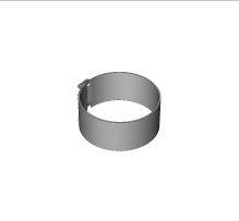 BRILON - Komín Serio fasádní svěrná objímka DN160 nerez 52109140 (52109140)